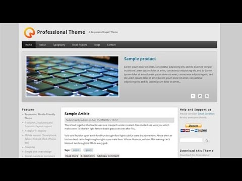 complete web design tutorial for beginners drupal select theme and change 1