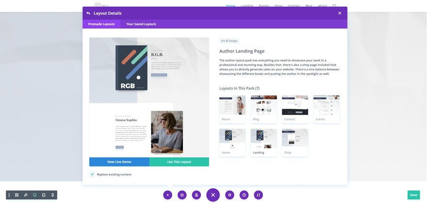 Get an Eye-Catching FREE Author Layout Pack for Divi - Web