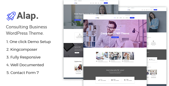 Alap – Consulting and Business WordPress Theme - Web Design Tips