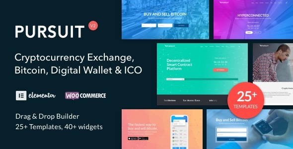 Pursuit - Flexible Cryptocurrency and ICO Theme - Web Design Tips