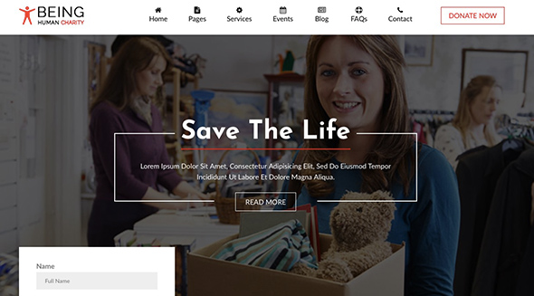 10 BeingHuman Non Profit Website Template