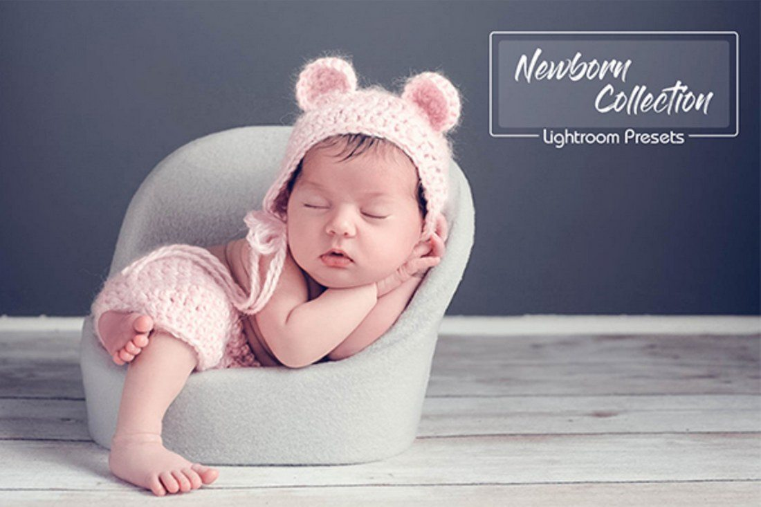 Another bundle of 25 unique lightroom presets for editing your newborn photos this pack features different presets that match many different occasions such