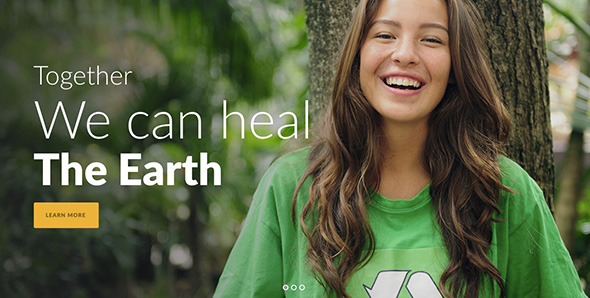 6 Green Nature non-profit WordPress themes