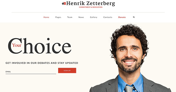 13 Candidate non-profit WordPress theme