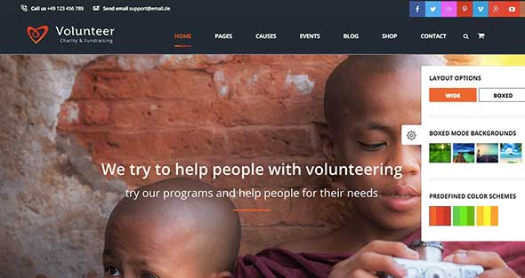 15 Volunteer non-profit WordPress theme