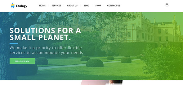 12 Ecology non-profit WordPress theme