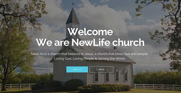 23 New Life non-profit WordPress theme