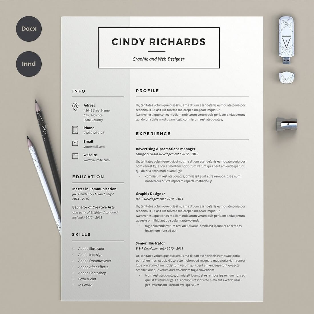 Best Cv  Resume Templates Of   Web Design Tips