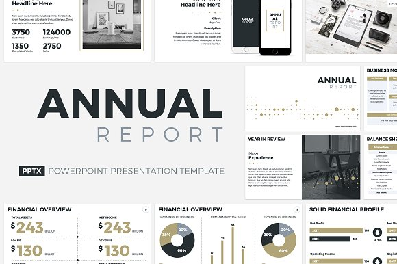 14 great powerpoint templates for annual report – design freebies.