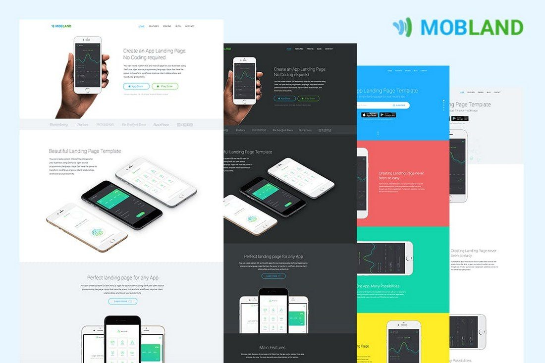 Best App Landing Page Templates Web Design Tips - Google pages templates