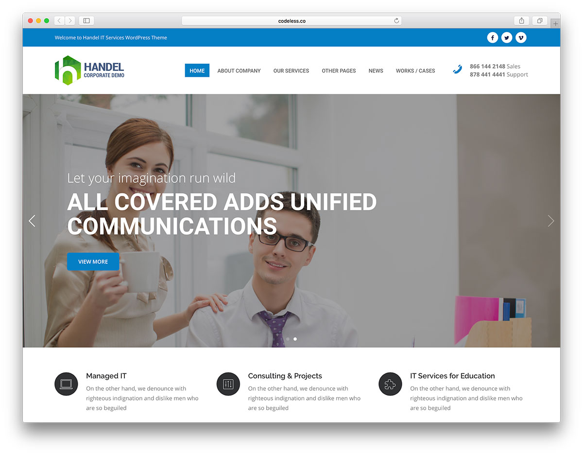24 Best Hosting WordPress Themes With Full WHMCS Manager