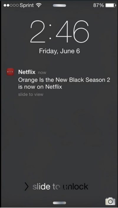Netflix does a great job of personalizing its mobile push notifications.