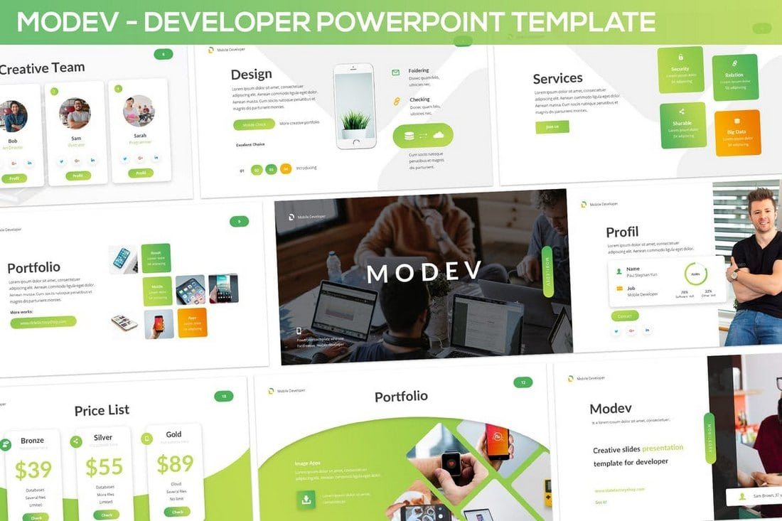 20 modern professional powerpoint templates web design tips