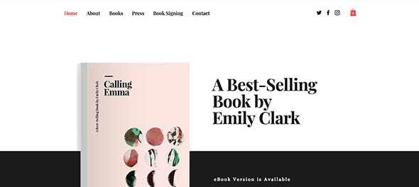 2 Featured Book Store Free Wix Website Template