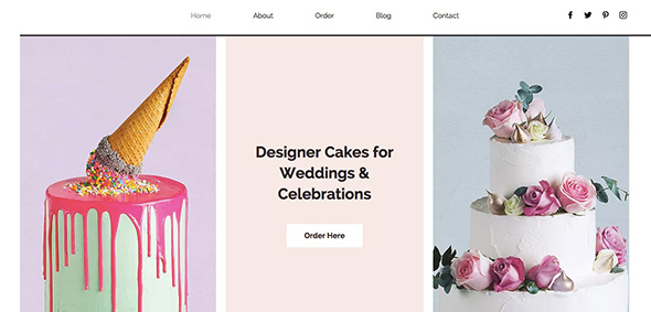 Cake / Bakery Website Template from Wix - Free