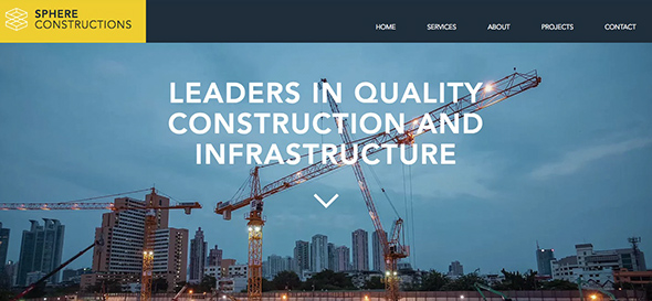 Construction Company - Free Wix Website Template