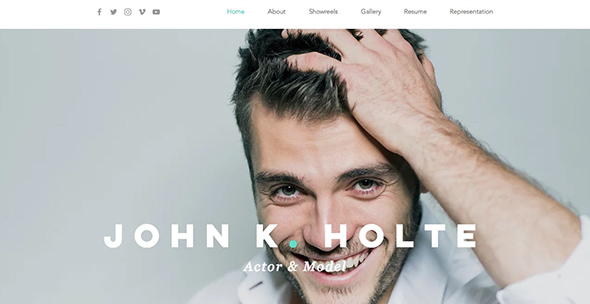 4 Actor & Model Resume Free Wix Web Template