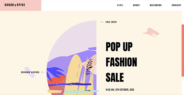 Pop Up Fashion Store - Free Wix Website Templates