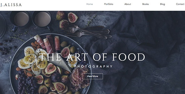 Food Photographer Free Wix Template