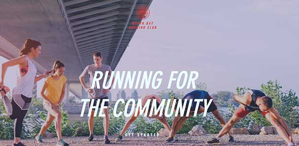 Running Group Free Wix Website Template
