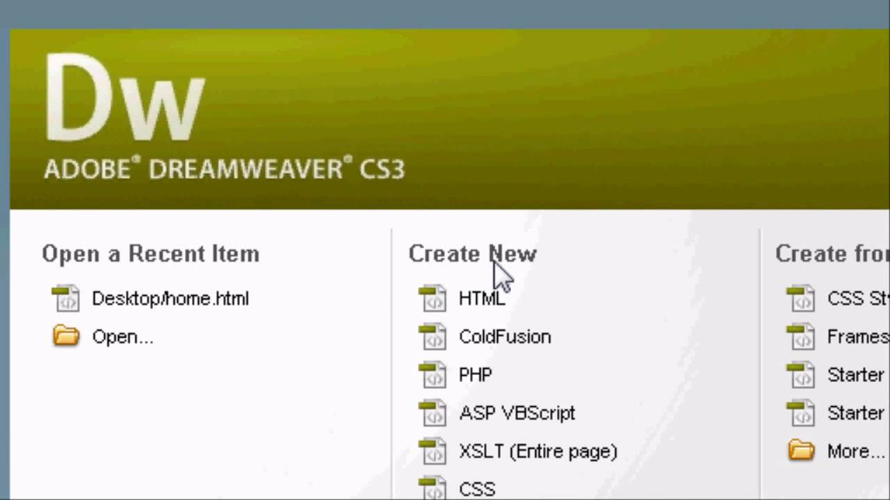 Adobe dreamweaver introduction tutorial how to make a website in.
