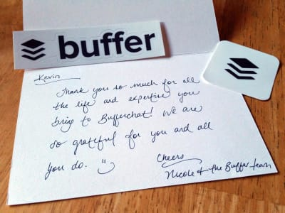 In today's world of digital communication, a handwritten note stands out. Sending thank-you notes is a fantastic, and very personal, way to surprise your customers.