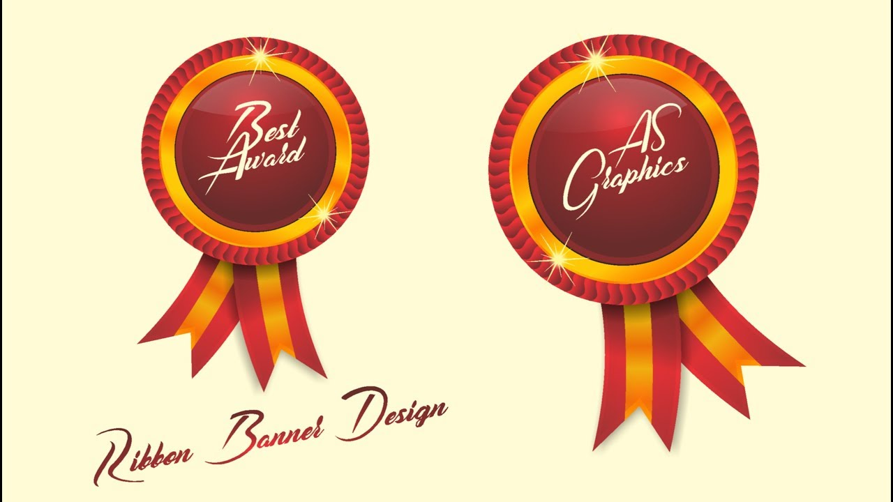 Ribbon Banner Design in CorelDraw x7 by as graphics - Web Design Tips