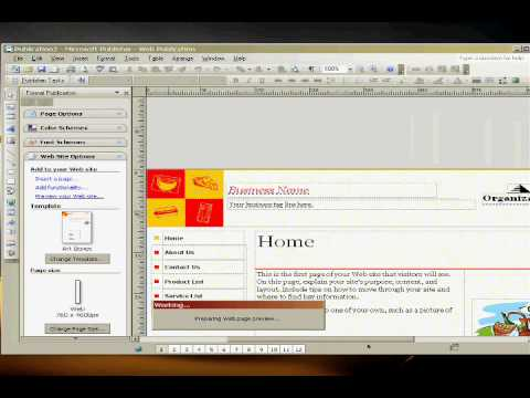 How To Create A Real Website In Microsoft Publisher 2007 Web Design Tips
