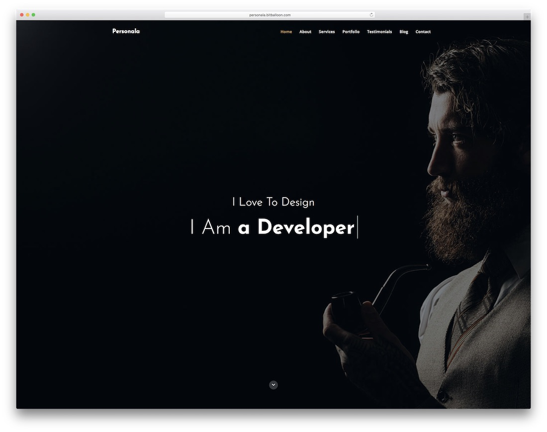 personala bootstrap personal website template