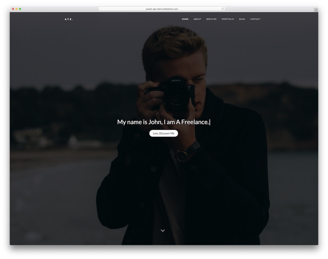 aye bootstrap personal website template