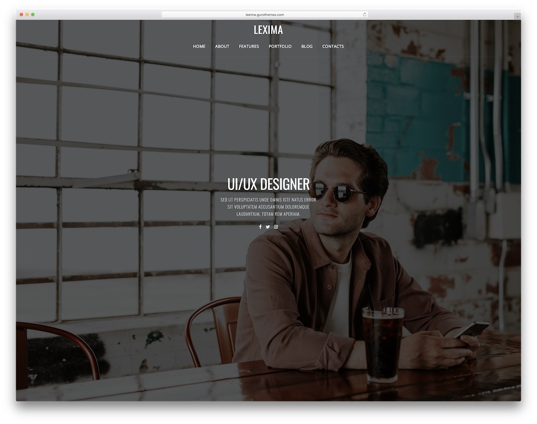 lexima bootstrap personal website template