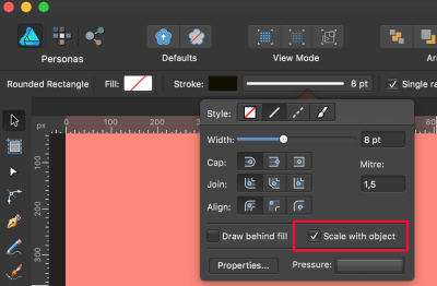 Make sure this is checked if you plan to resize your artwork, so that it scales the strokes accordingly.