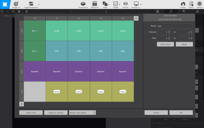 Art directing for the web with css grid template areas web design tips the grid editor contains tools for building a grid visually maxwellsz