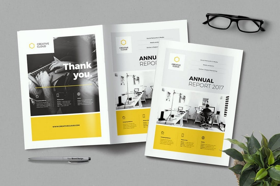 20 Annual Report Templates Word Indesign 2018 Web Design Tips