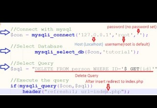 PHP Delete Records From MYSQL Database Using PHP