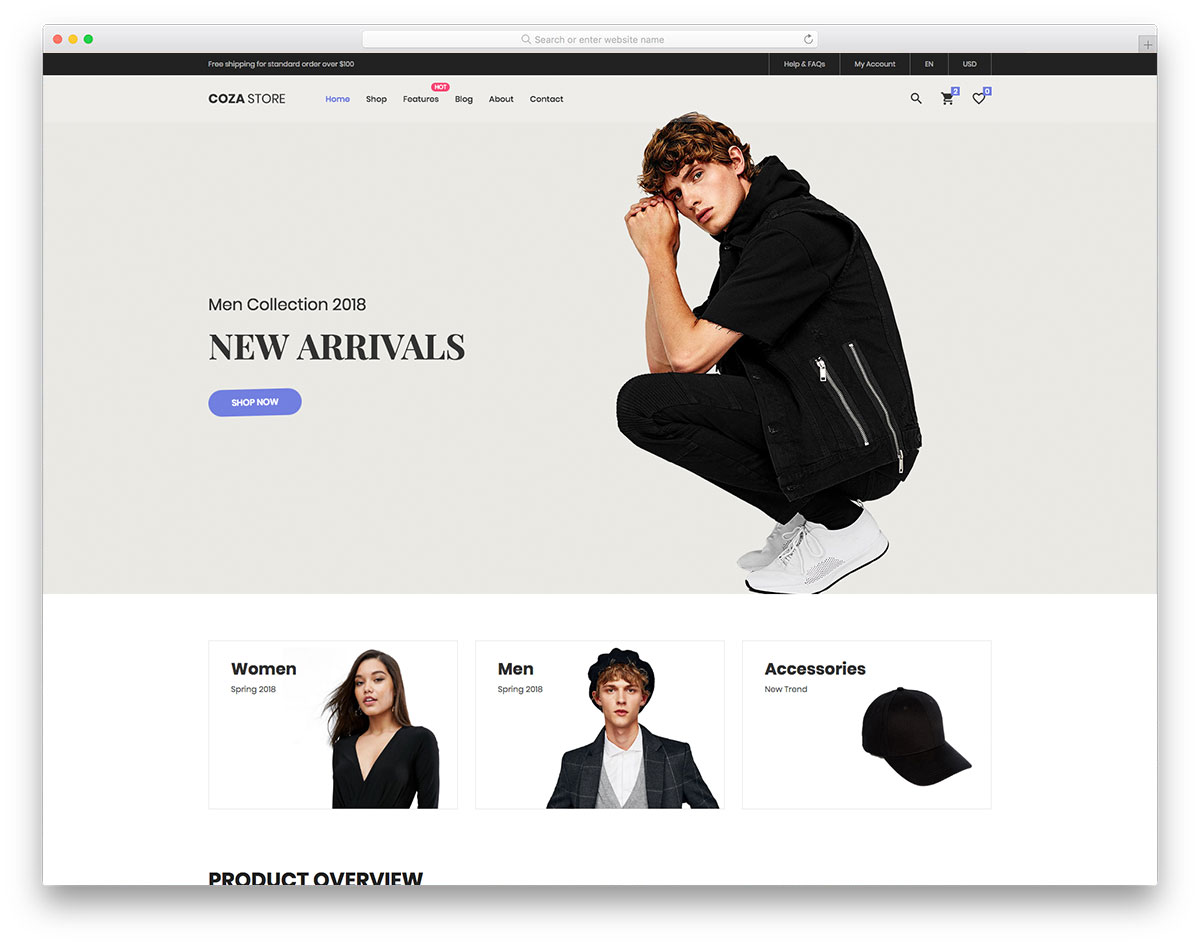 Coza store free template