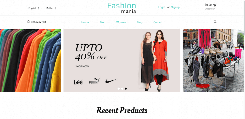 Fashion Mania A Ecommerce Category Flat Bootstarp Resposive Website Template Home w3layouts