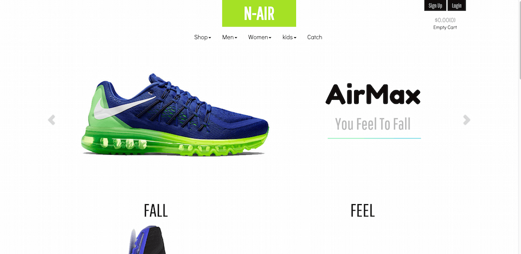 N Air a E commerce category Flat Bootstrap Responsive Website Template Home w3layouts