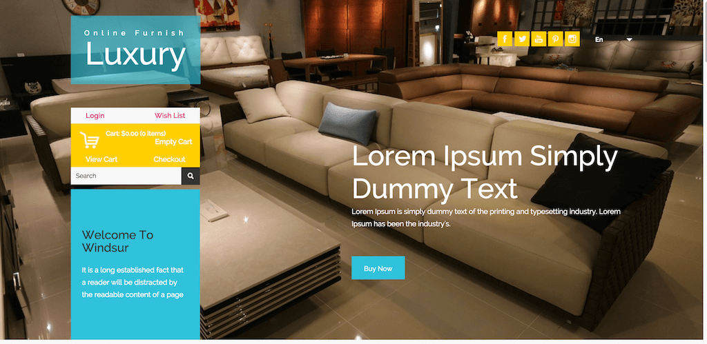 Luxury Furnish an E Commerce online Shopping Category Flat Bootstarp responsive Website Template Home w3layouts