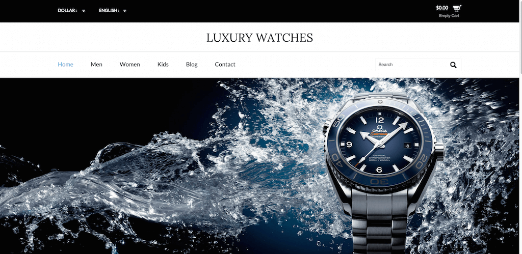 Luxury Watches A Ecommerce Category Flat Bootstrap Resposive Website Template Home w3layouts