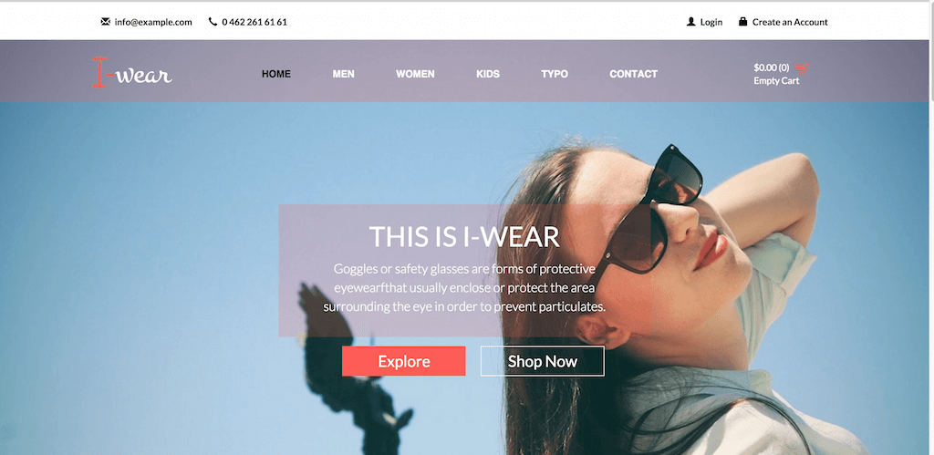 I wear A Ecommerce Category Flat Bootstarp Resposive Website Template Home w3layouts