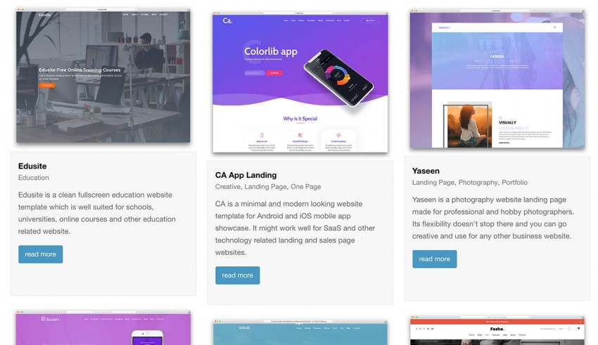31 Top Free Bootstrap 4 Website Templates 2018 - Web Design Tips