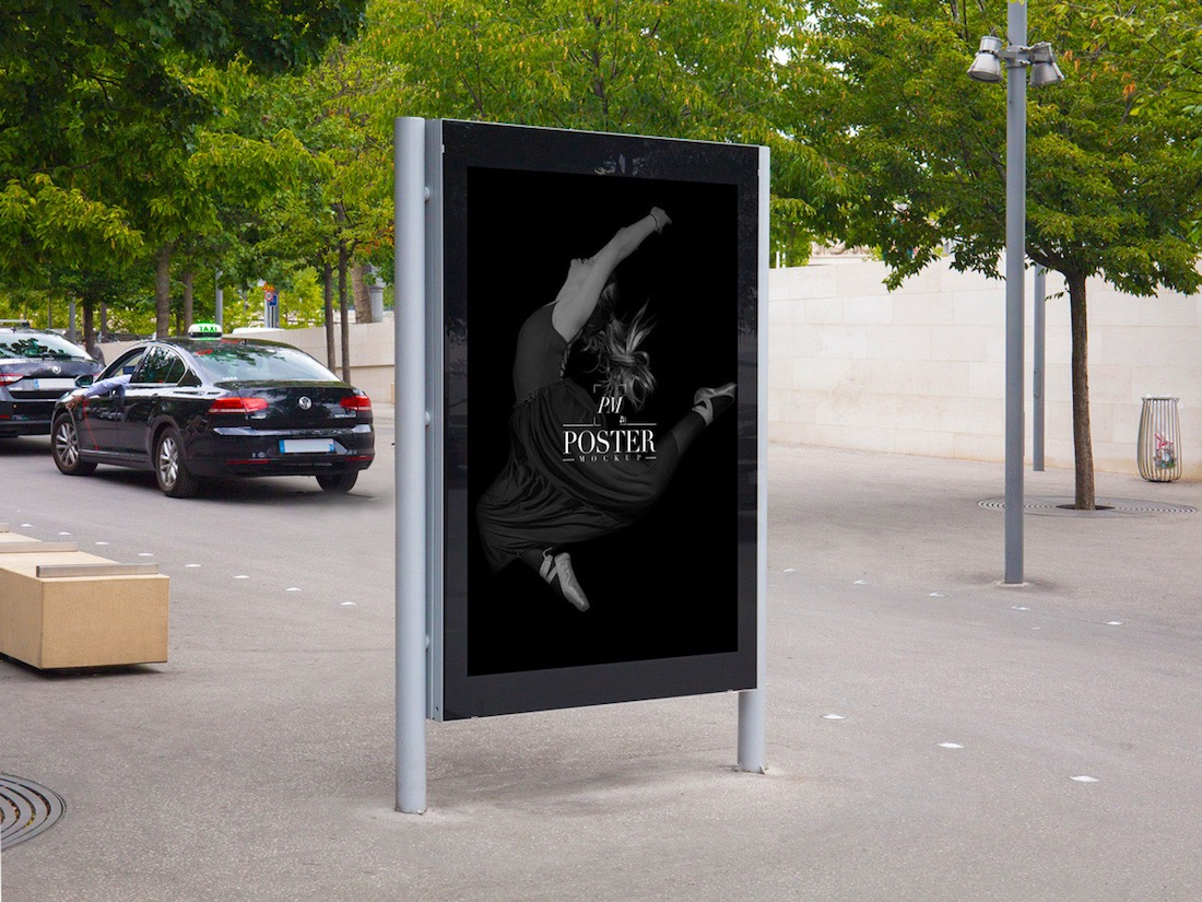 outside theatre poster mockup