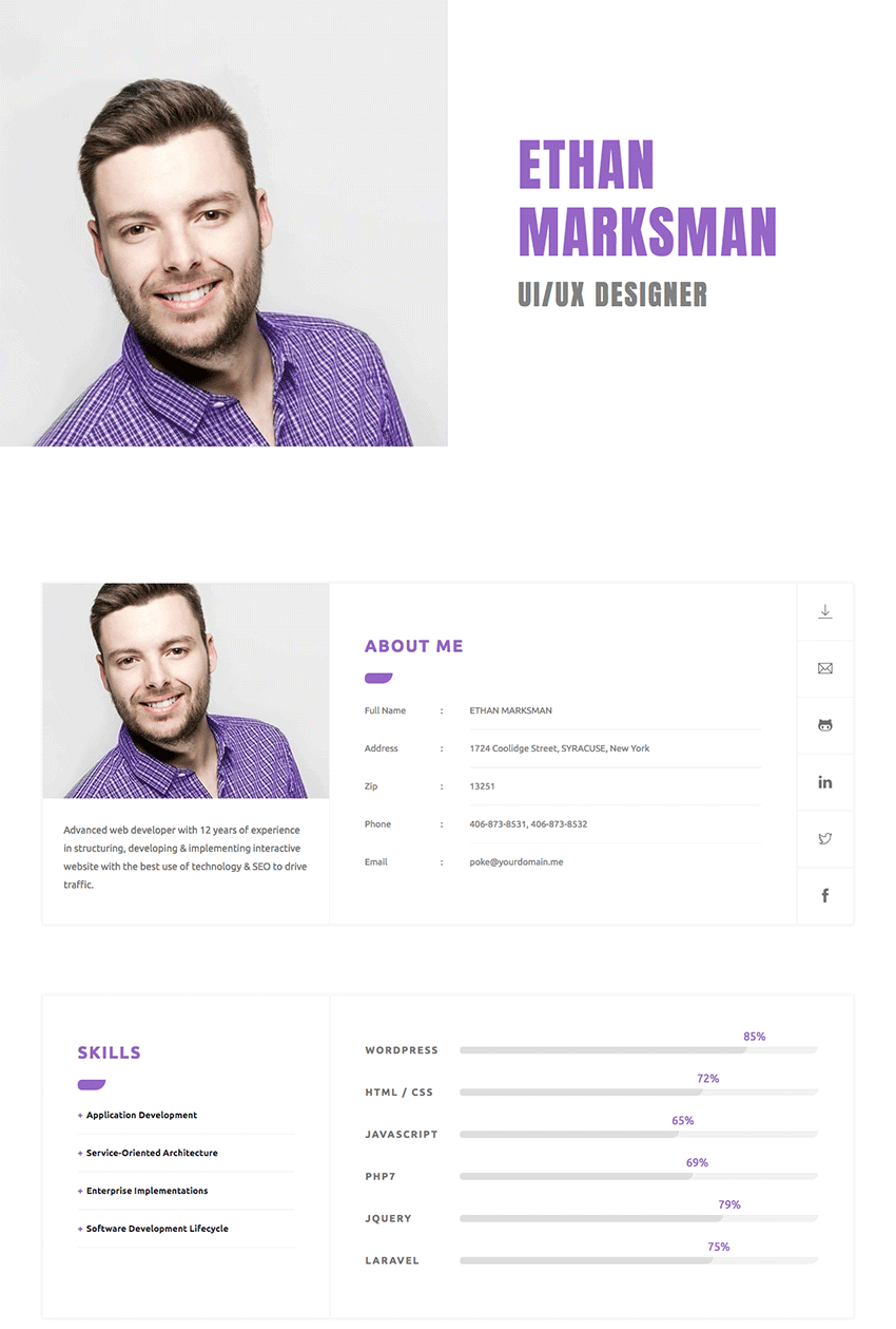 18 best html resume templates for awesome personal