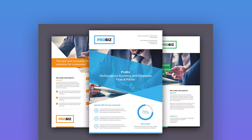 20 business flyer templates with creative layout designs web