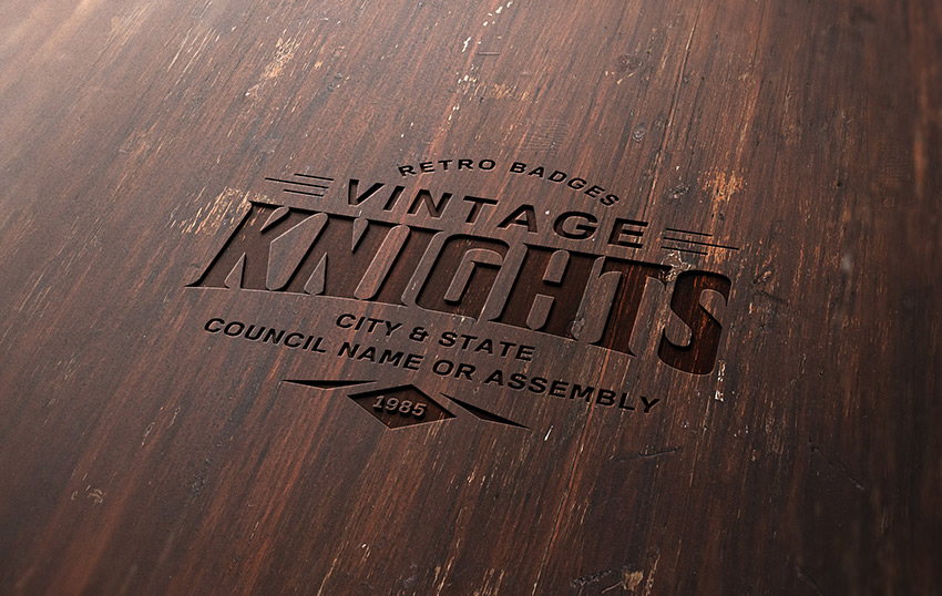 Download How to Create a Wood Engraved Logo Mockup in Adobe ... Free Mockups