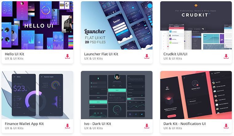 Top 35 Free Mobile Ui Kits For App Designers 2018 Web Design Tips