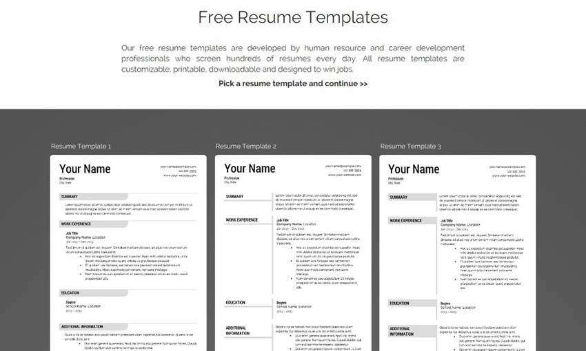 Stand Out With These Free Resume Templates Web Design Tips
