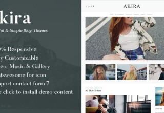 Akira - A Responsive WordPress Blog Theme