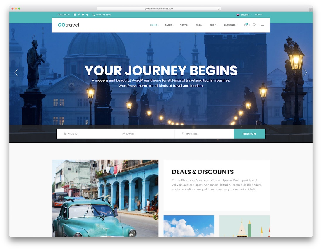50+ Jaw-Dropping WordPress Travel Themes For Travel Agencies, Hotels